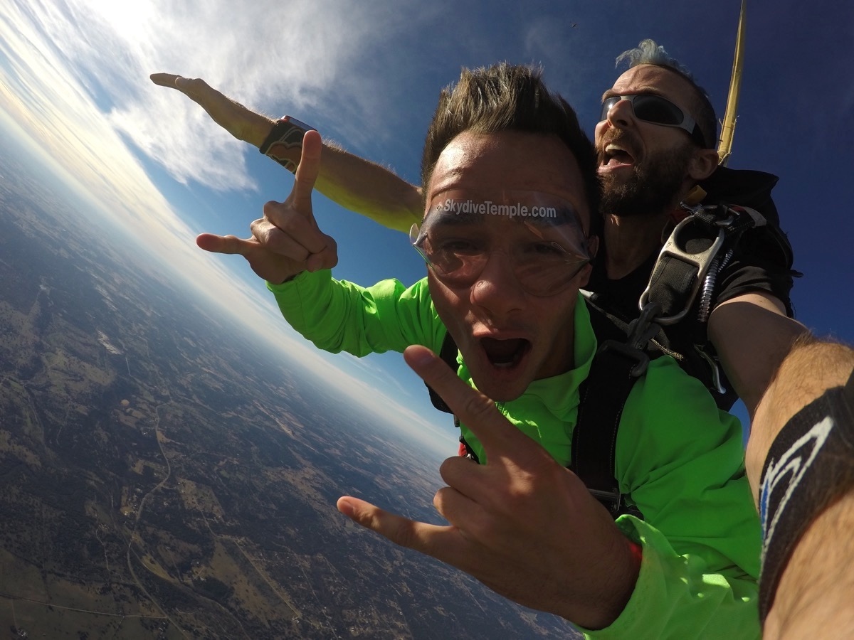 Experience the thrill of a lifetime at Skydive Temple! Best